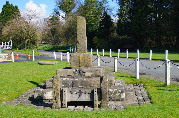 Site of old cross and stocks, Bolton-by-Bowland