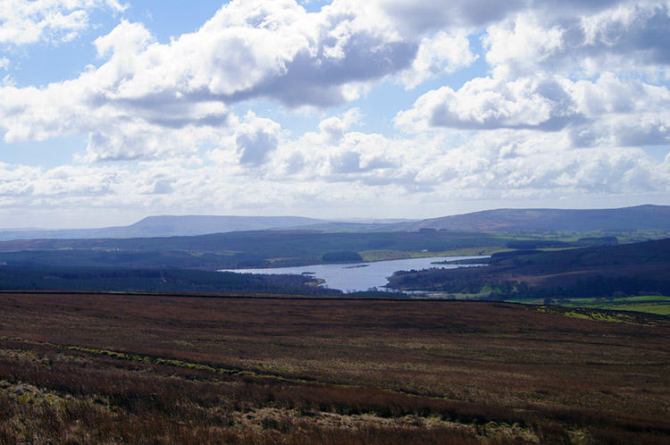 View to Stocks Reservoir and Pendle Hill