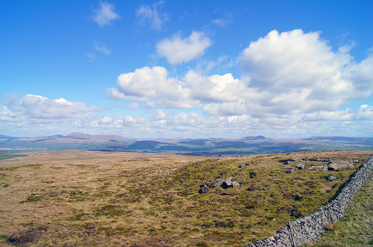 View to the Yorkshire Dales from Bowland Knotts