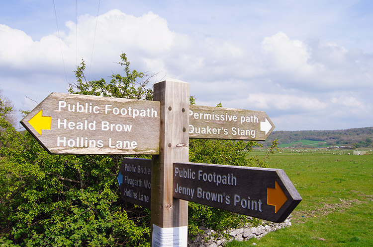 Signpost near the Heald