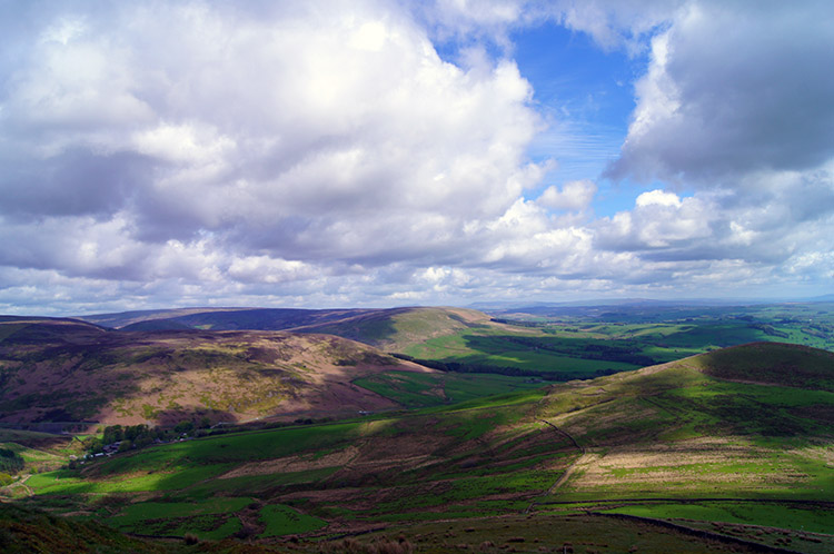 Looking back to the Forest of Bowland