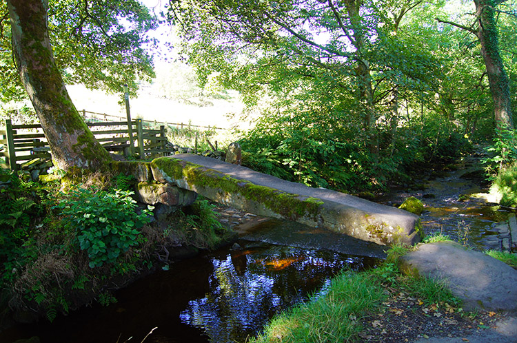 Clam Bridge and ford across Wycoller Beck