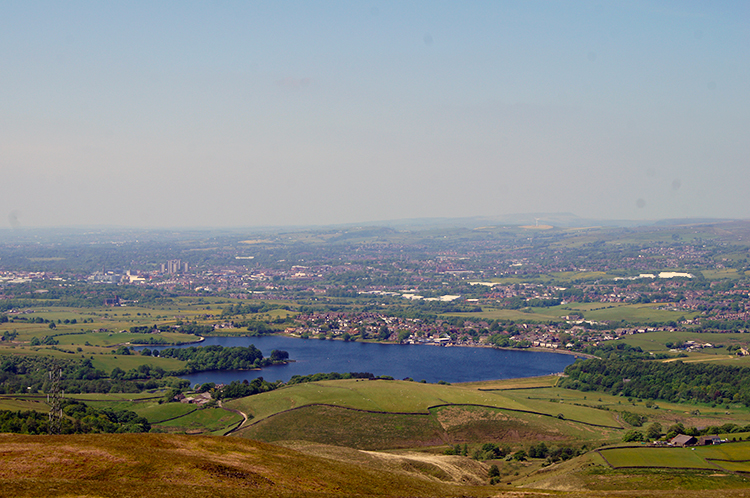 Hollingworth Lake seen from Clegg Moor