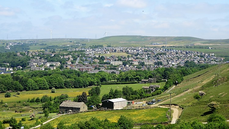 View from Lee Quarry to Rossendale and Bacup