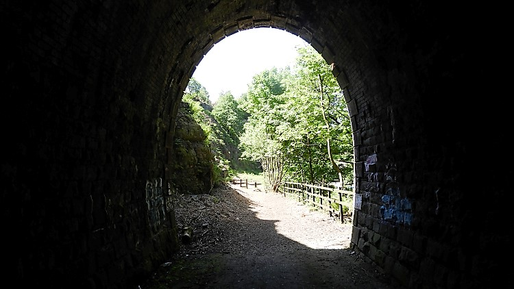 Tunnel on the Irwell Sculpture Trail