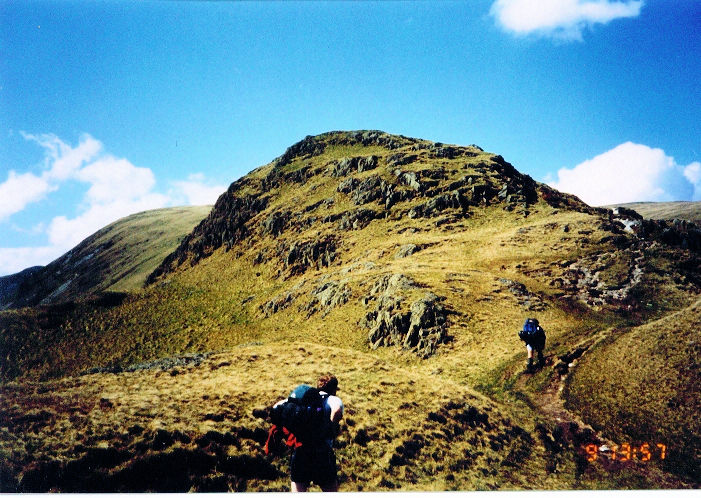 Climbing from Kidsty Howes to Kidsty Pike