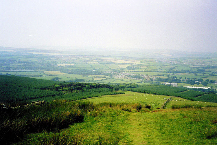 View back to the coast from Dent Hill