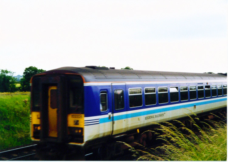 Train passing near Deighton