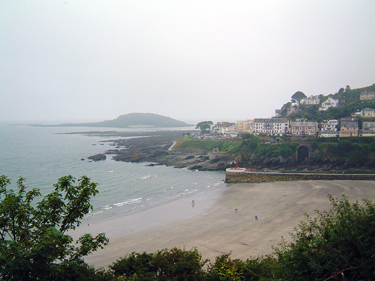 View from Downderry to Looe Island