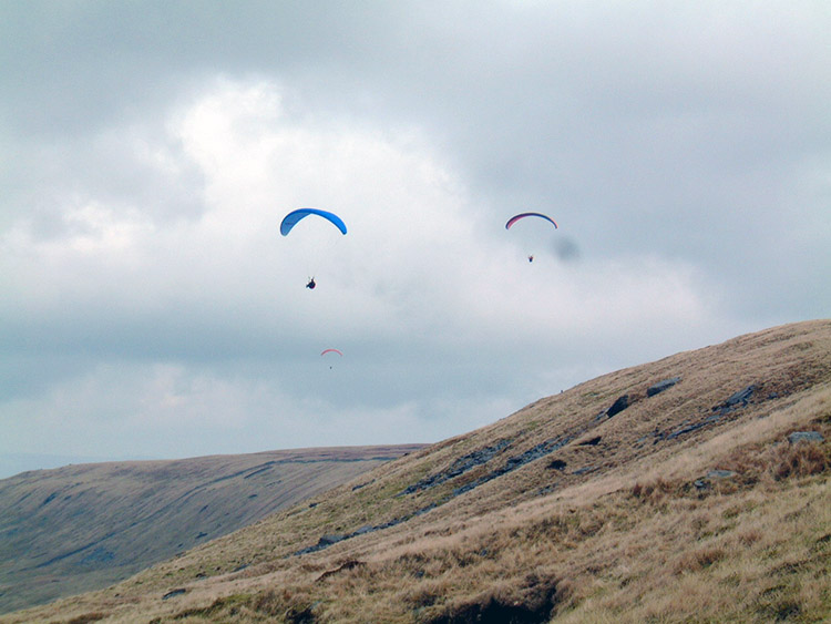 Whernside Breast and Paragliders