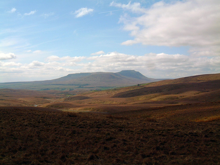 View to Ingleborough from Newby Head Gate