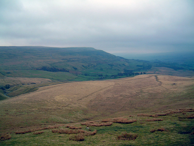 The view west from Great Shunner Fell