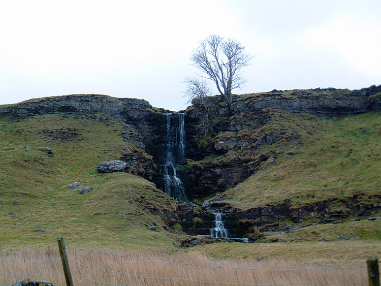 Close Gill waterfall near Cray