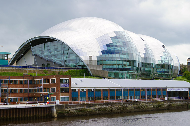 The SAGE is an eye catching building