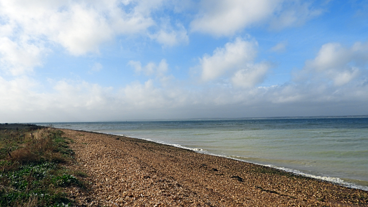 The Solent at Hamstead Point