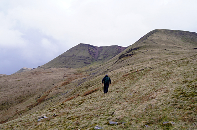 Climbing the Beacons Way to Picws Du