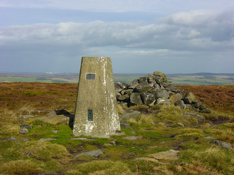Trig Pillar on Ilkley Moor