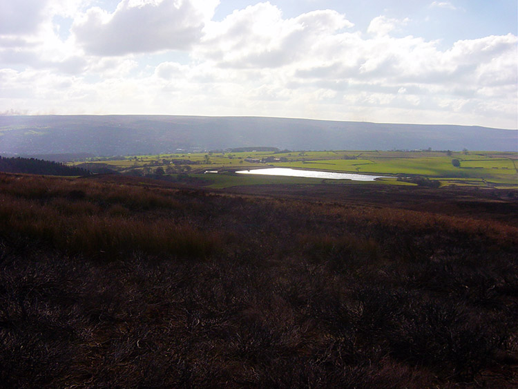 The view from Middleton Moor to March Ghyll Reservoir
