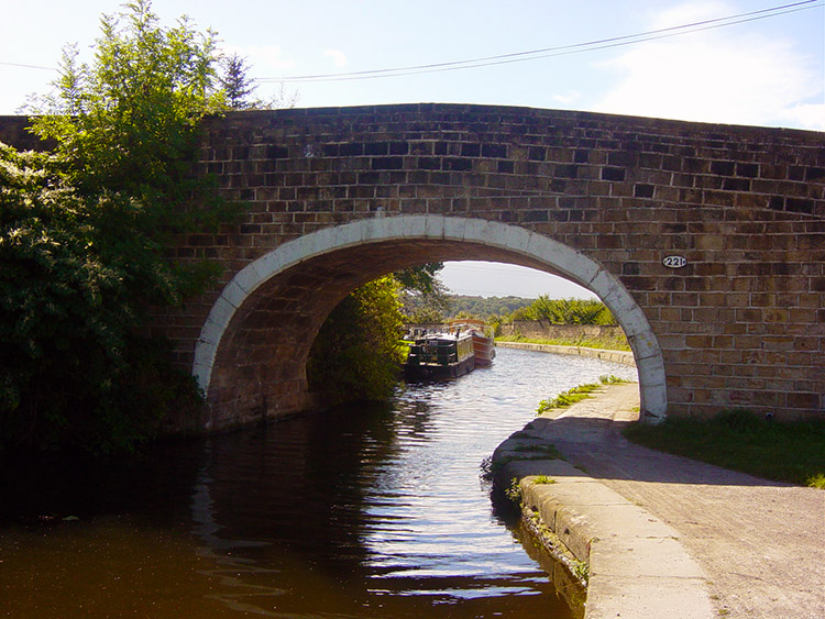 Road Bridge over the Leeds and Liverpool Canal at Newlay