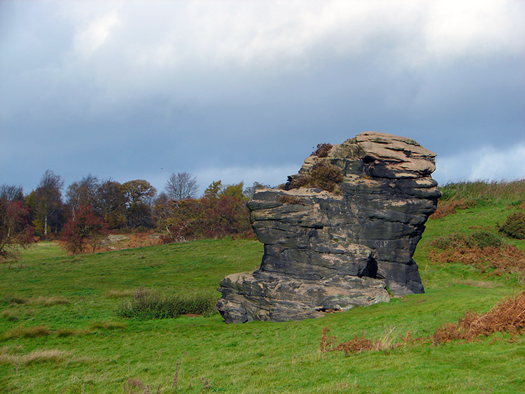 One of the gritstone outcrops near Crimple Beck