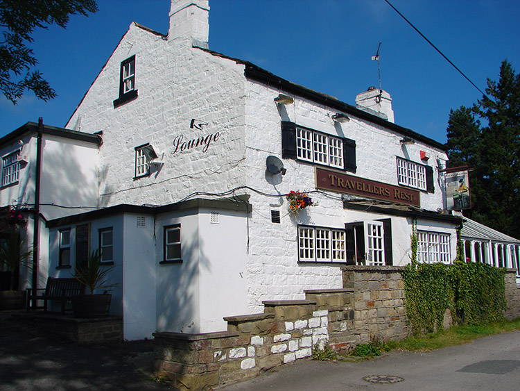 I enjoyed a refreshing pint at the Travellers Rest