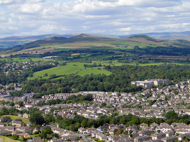 Skipton with Flasby Fell beyond