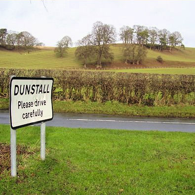 Rolling countryside at Dunstall