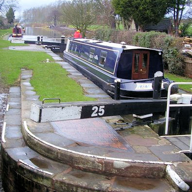 Sandon Lock on the Trent and Mersey canal