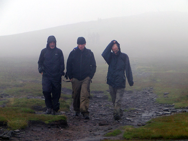 Getting off the summit of Pendle Hill in a hurry