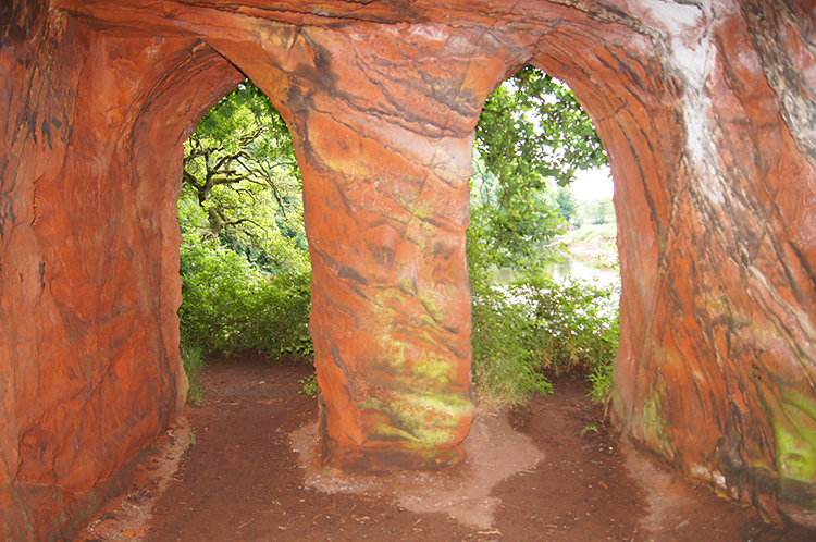 Bridge red sandstone cave