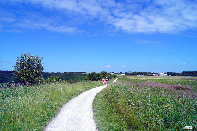 Following the path near the Gliding Club