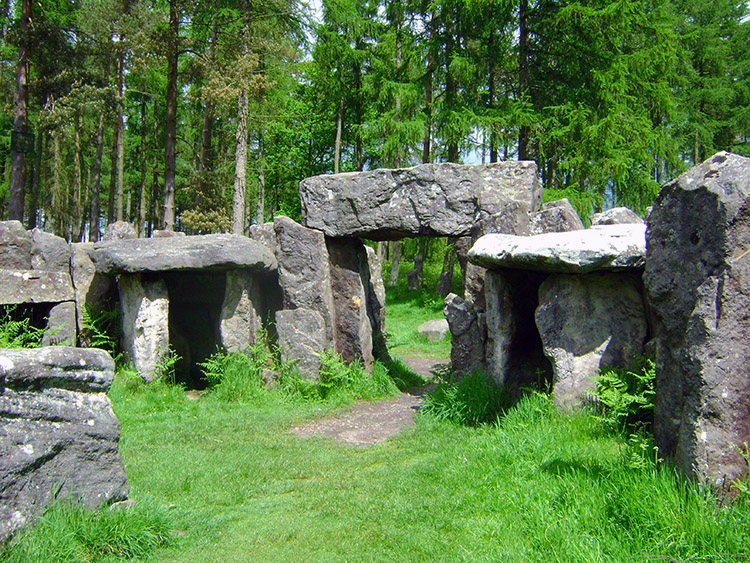 The east entrance to Druids Temple
