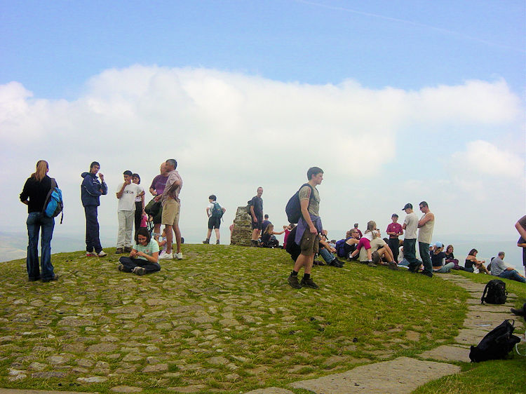Hikers on Mam Tor