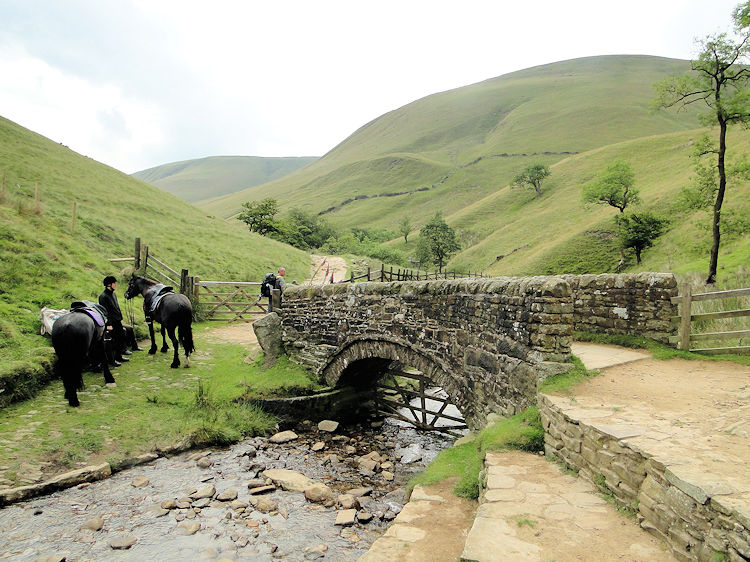 Packhorse Bridge at the foot of Jacob's Ladder