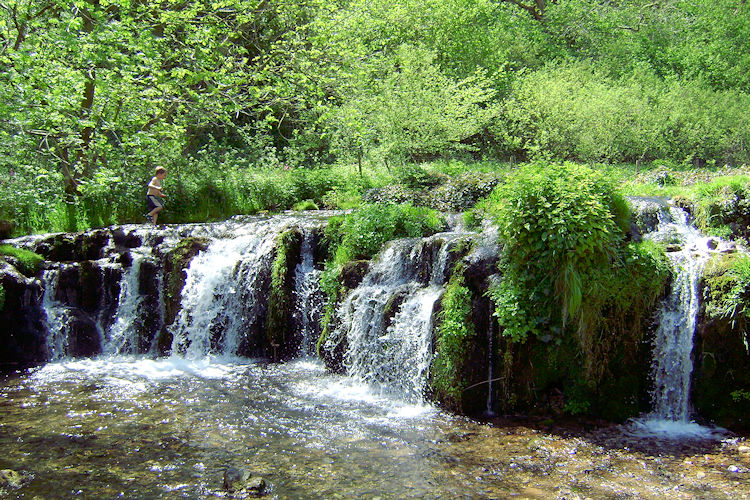 A lovely waterfall on River Lathkill