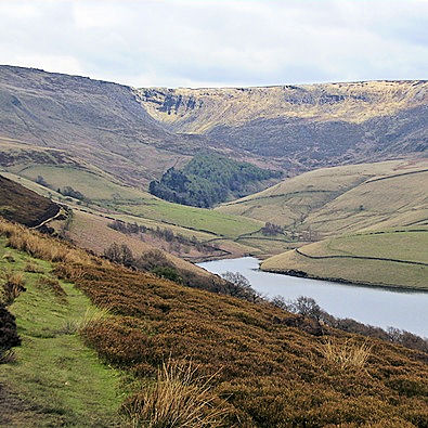 Kinder Reservoir and Kinder Edge