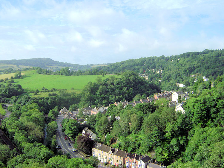 The view south to Cromford from High Tor