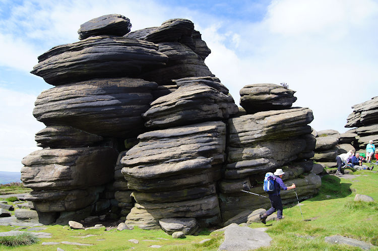 Symmetrical weathering on Whinstone Lee Tor