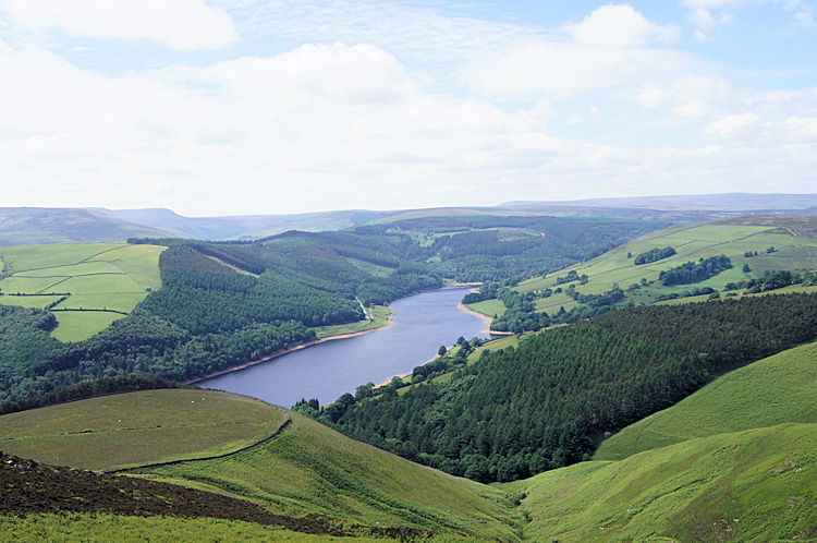 Ladybower as seen from Whinstone Lee Tor