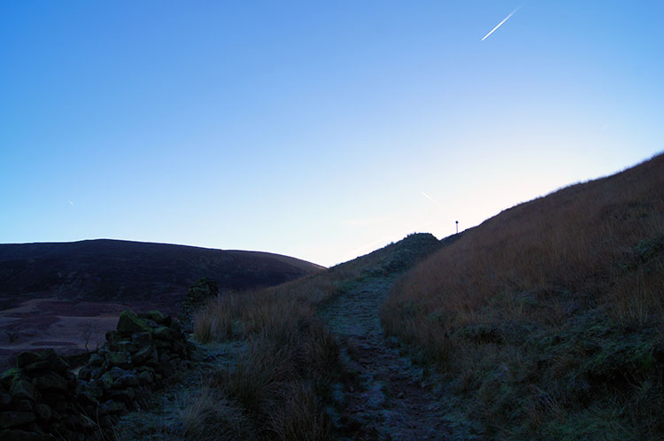 Beginning the climb of Torside Clough