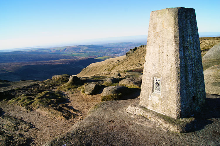 Trig point on Shelf Moor