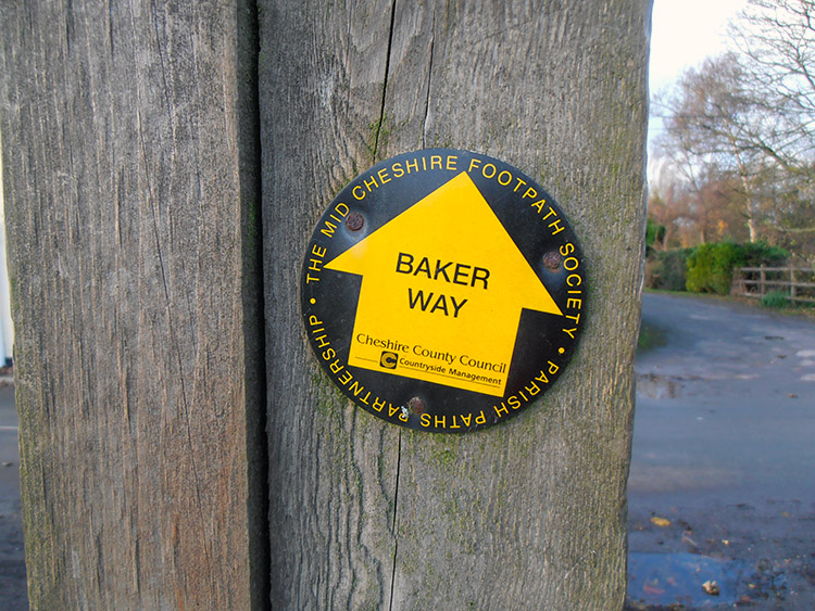 Baker Way Marker