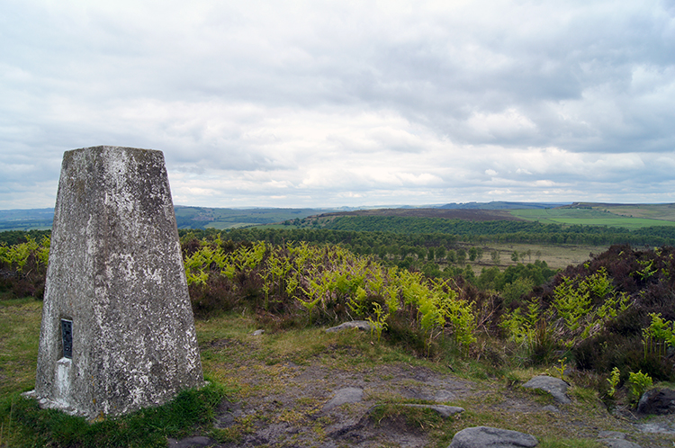 Trig point near Birchen Edge