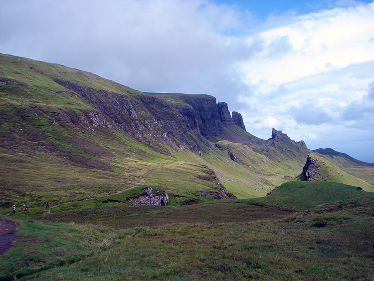 View of the Quiraing from the start of the walk