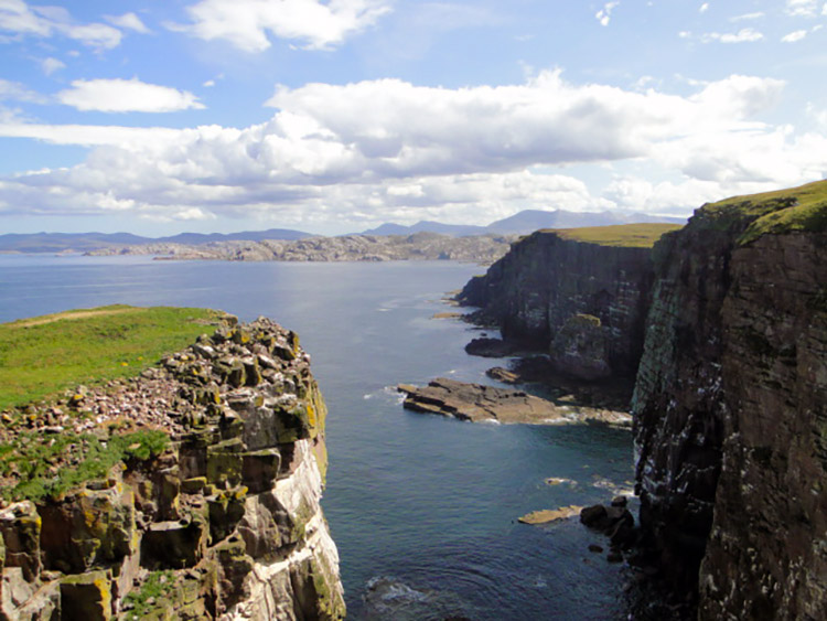 Wonderful cliffs of Handa and north west Scotland
