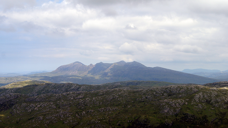 View from Bealach Mòr to Canisp