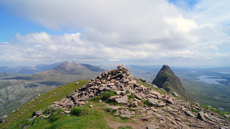 The view east from the summit of Suilven