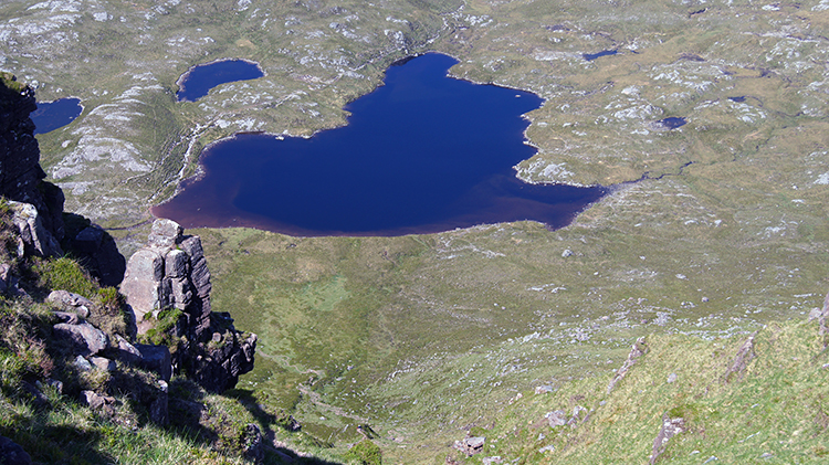 The view down to Loch a Choire Dhuibh