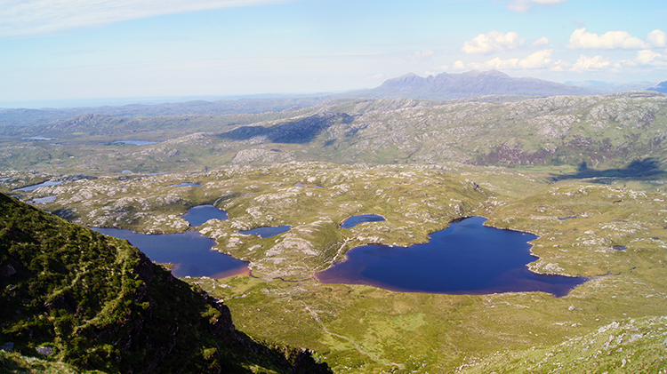 The view to the north from Suilven