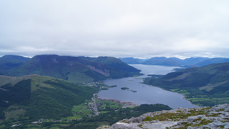 Summit view to Loch Leven and Loch Linnhe